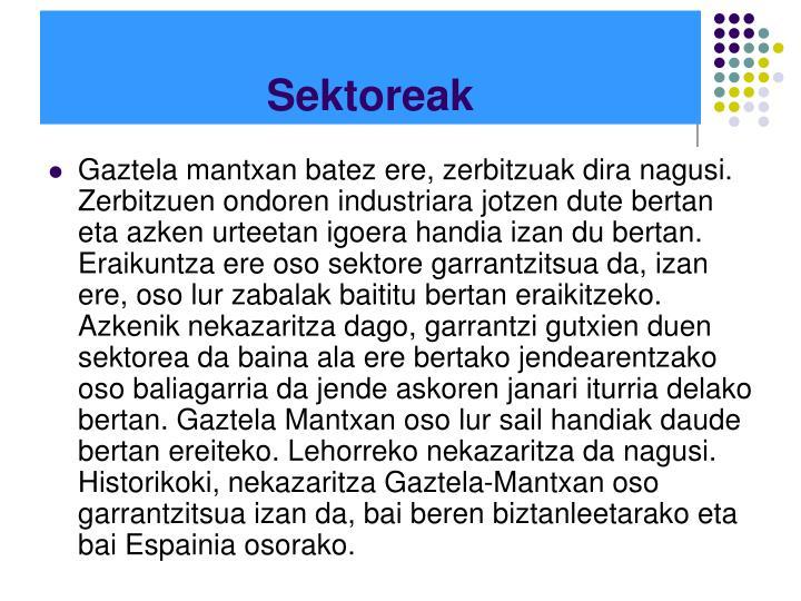 Sektoreak