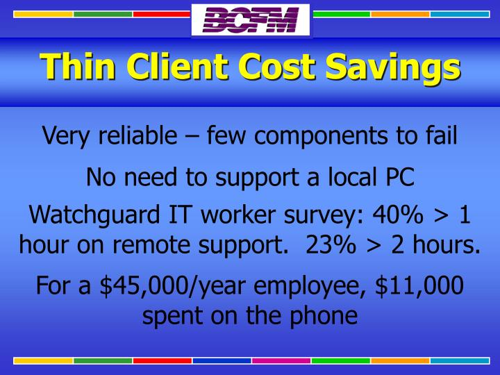 Thin Client Cost Savings