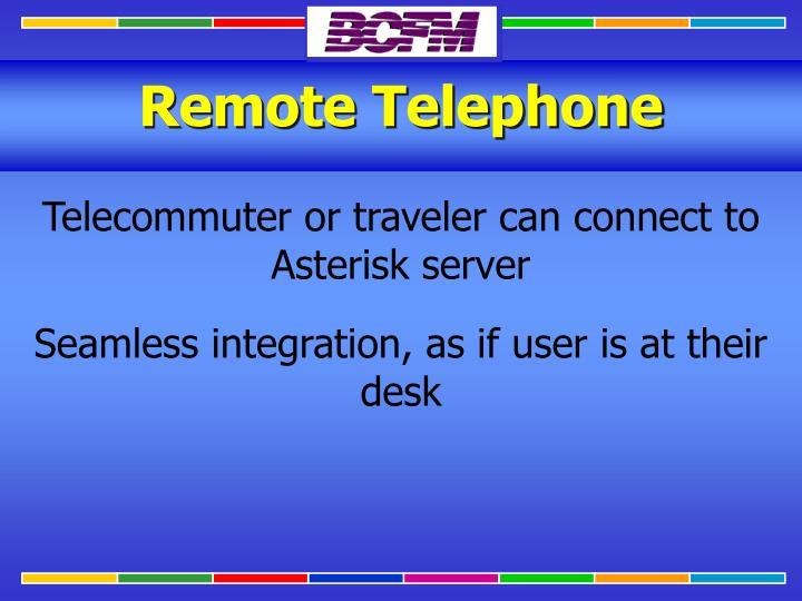 Remote Telephone