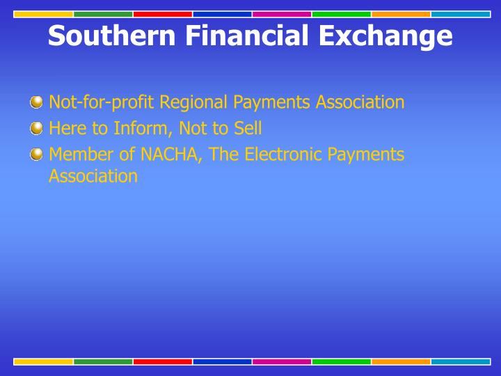Not-for-profit Regional Payments Association