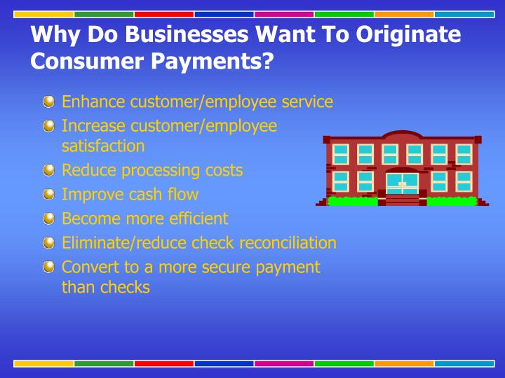 Why Do Businesses Want To Originate Consumer Payments?