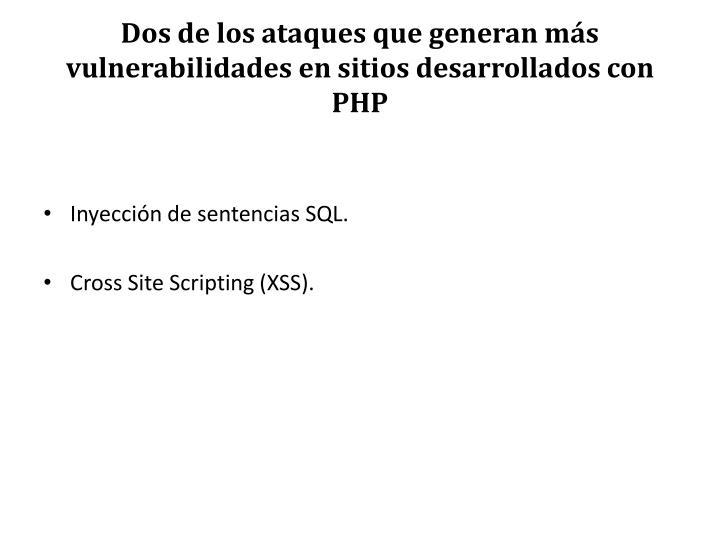 Dos de los ataques que generan más vulnerabilidades en sitios desarrollados con PHP