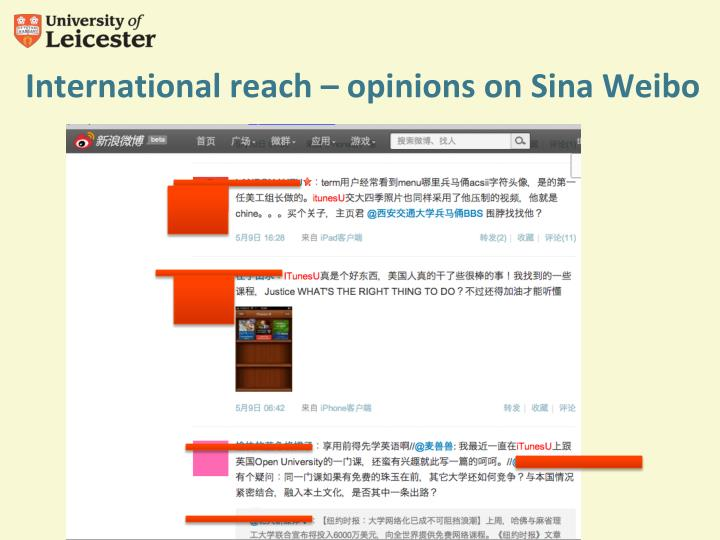 International reach – opinions on