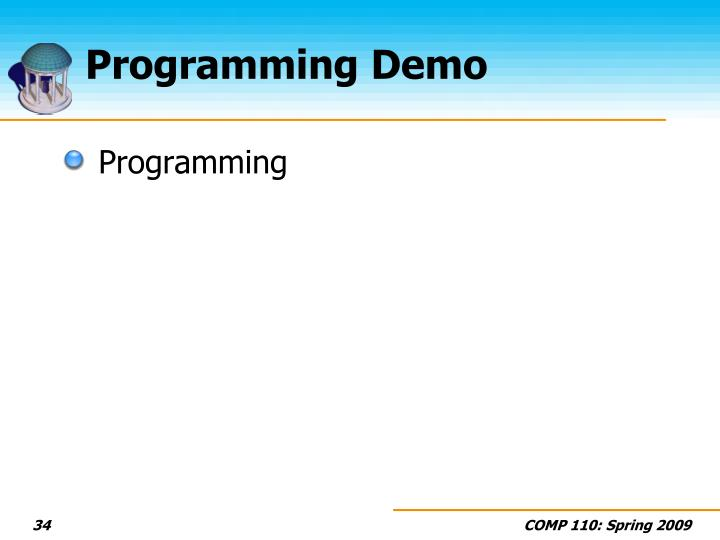 Programming Demo