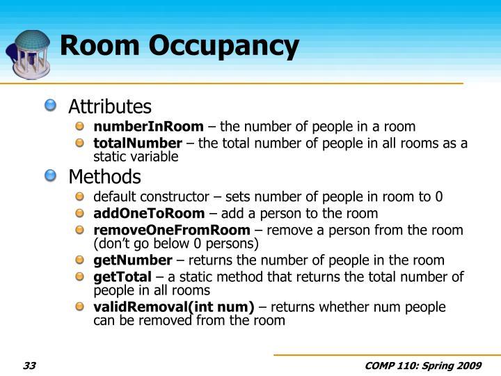 Room Occupancy