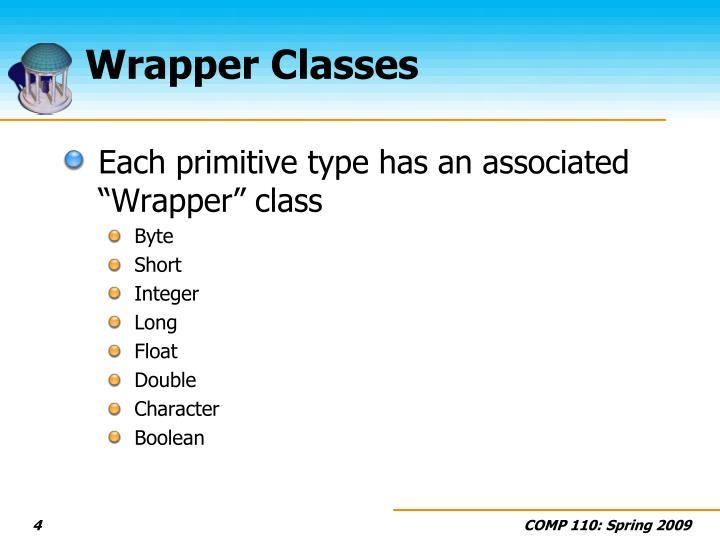 Wrapper Classes