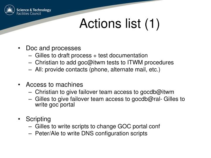Actions list (1)