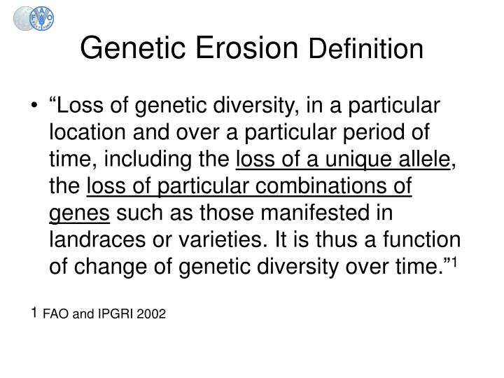Genetic erosion definition