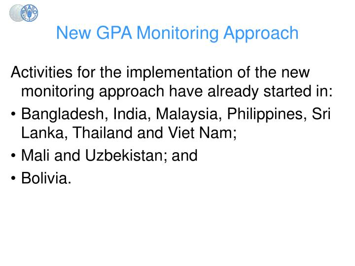 New GPA Monitoring Approach