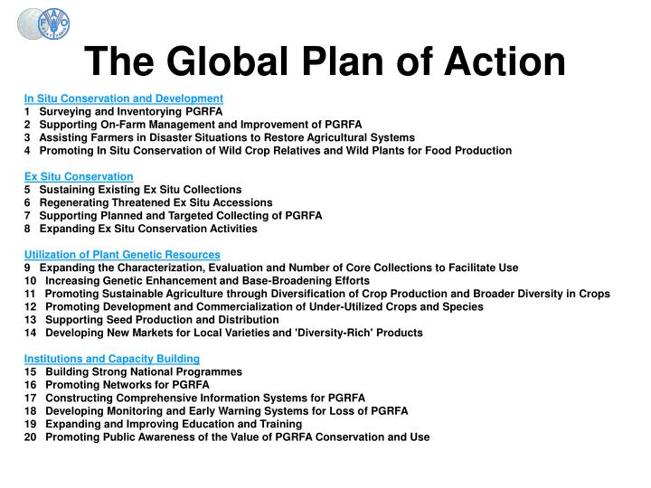 The Global Plan of Action