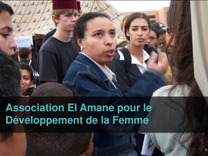 Association El Amane pour le Développement de la Femme