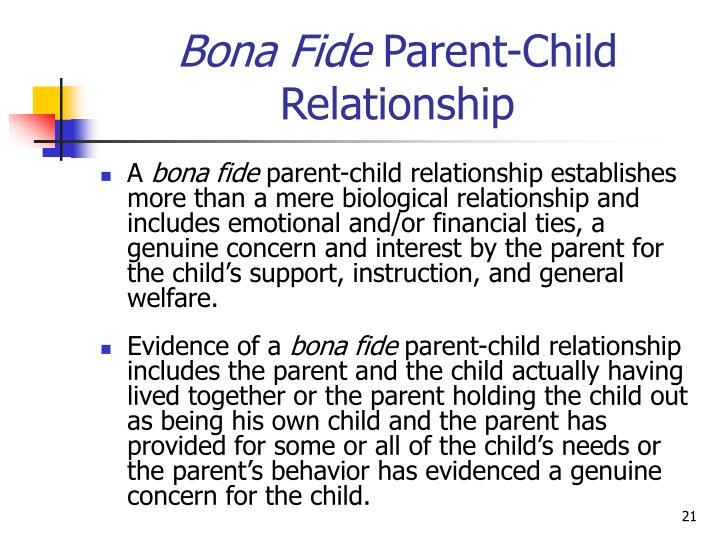 petition to establish the parent child relationship