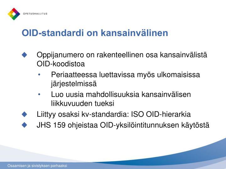 OID-standardi