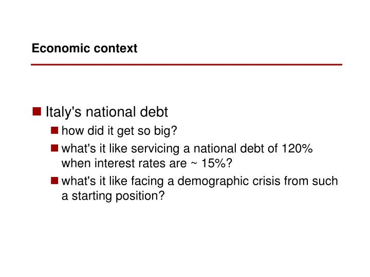 Italy's national debt