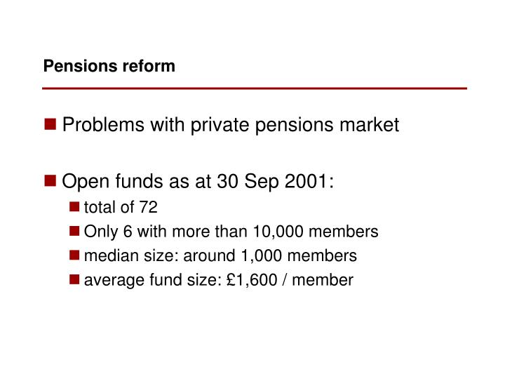 Problems with private pensions market