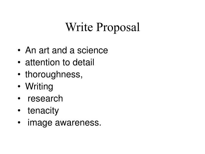 Write Proposal
