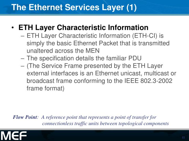 The Ethernet Services Layer (1)