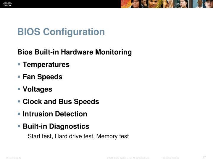 BIOS Configuration