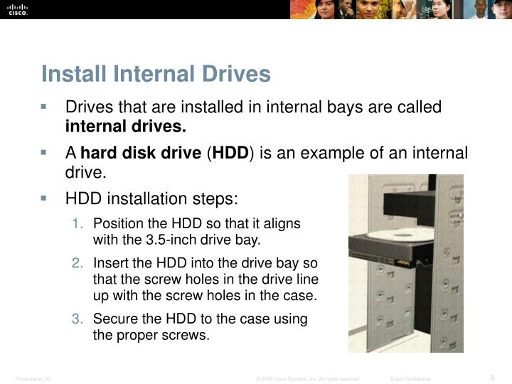 Install Internal Drives
