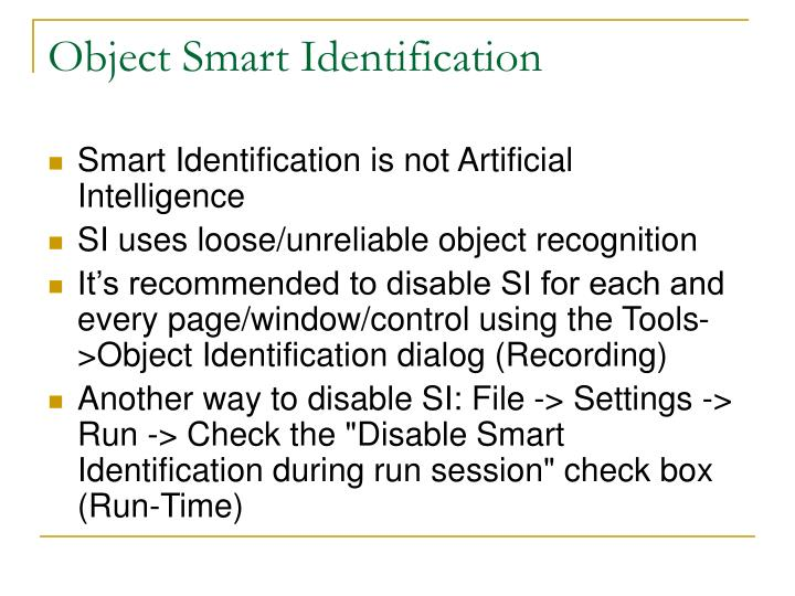 Object Smart Identification