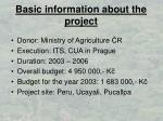 basic information about the project
