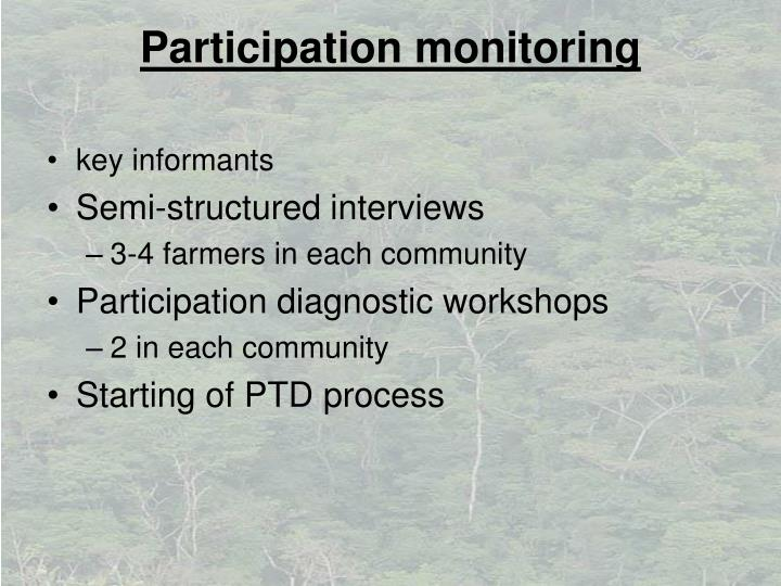 Participation monitoring
