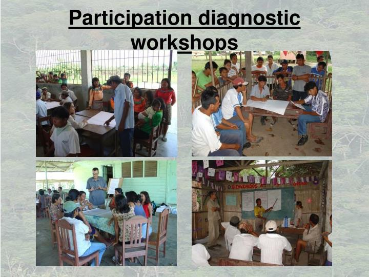 Participation diagnostic workshops