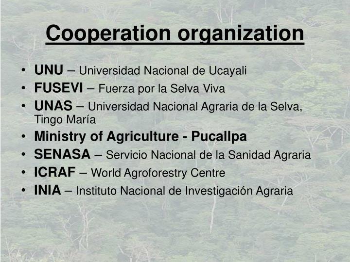 Cooperation organization