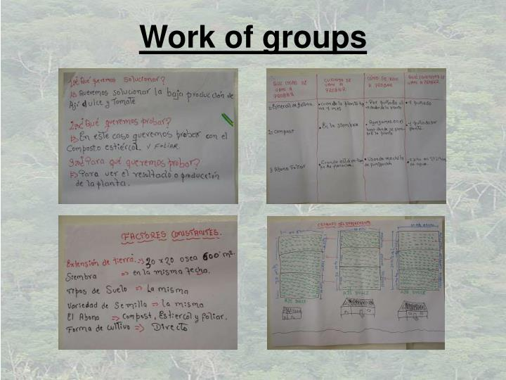 Work of groups