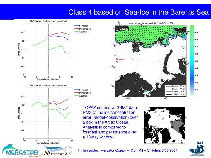 Class 4 based on Sea-Ice in the Barents Sea