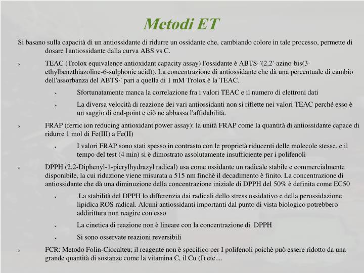 Metodi ET