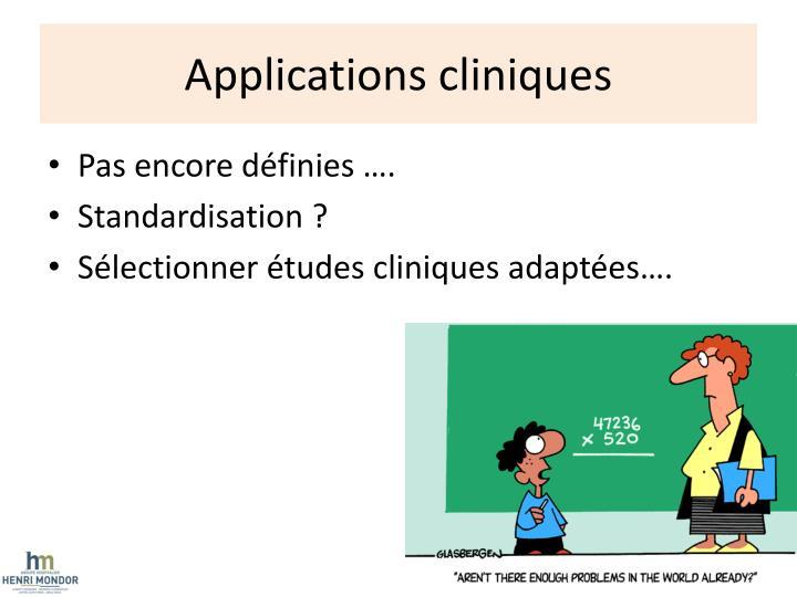 Applications cliniques