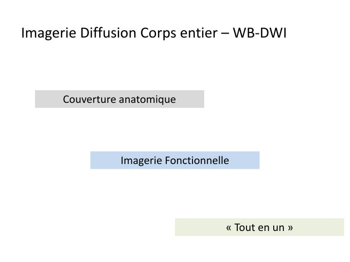 Imagerie diffusion corps entier wb dwi