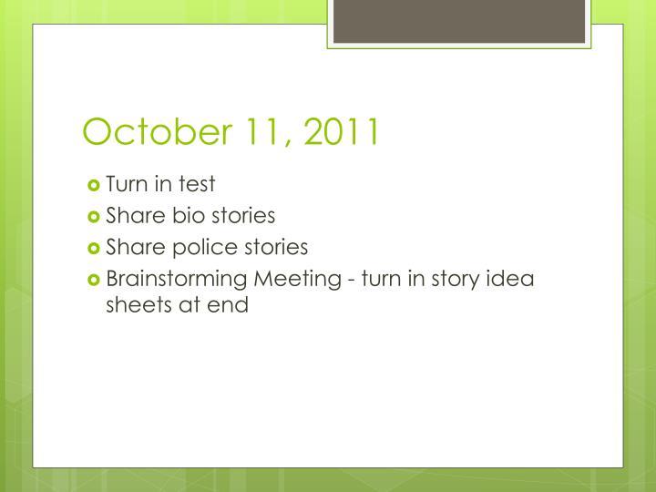 October 11, 2011