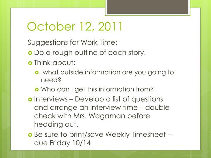 October 12, 2011