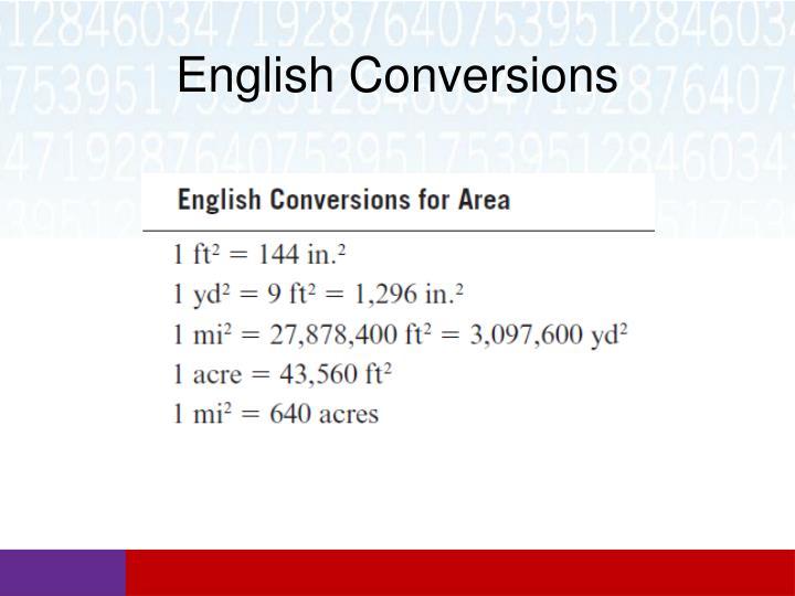 English Conversions