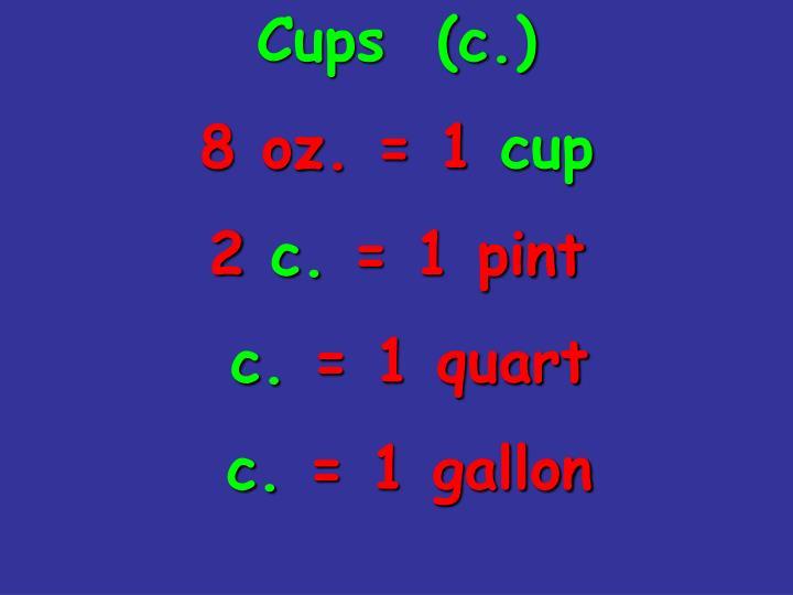 Cups  (c.)