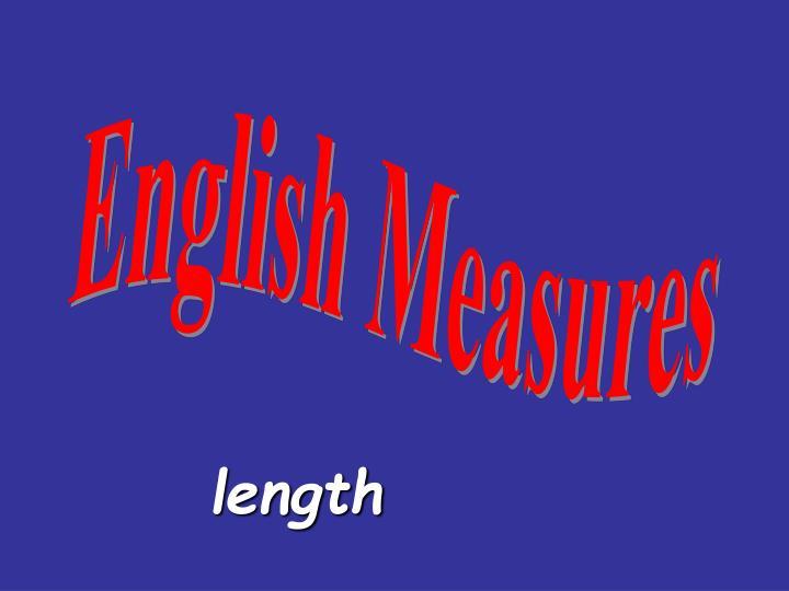 English Measures