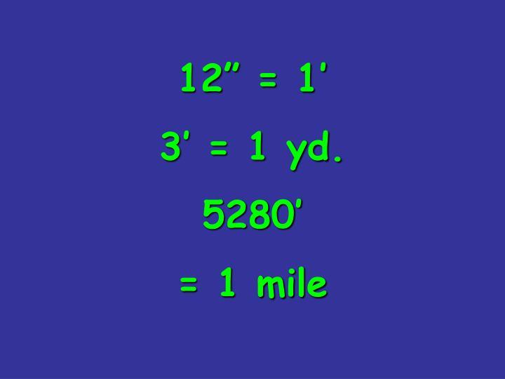 "12"" = 1'"