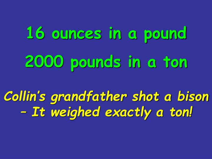 16 ounces in a pound