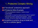 1 proteome complex mining