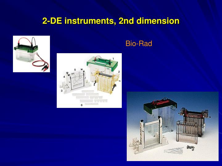 2-DE instruments, 2nd dimension