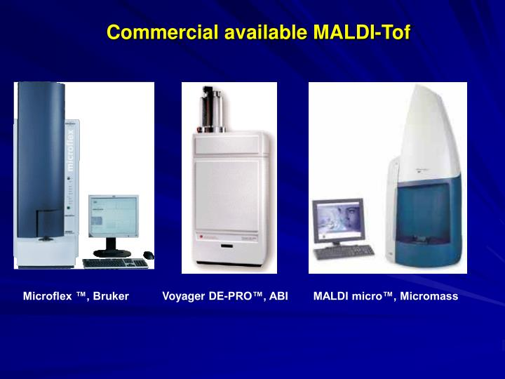 Commercial available MALDI-Tof
