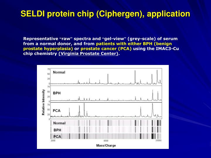 SELDI protein chip (Ciphergen), application