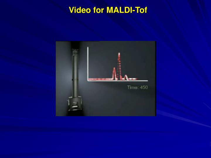 Video for MALDI-Tof