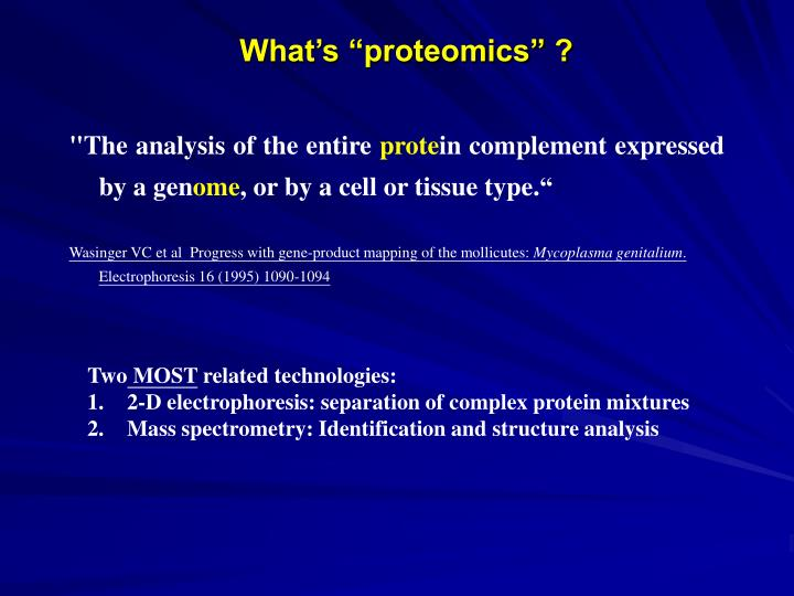 What s proteomics