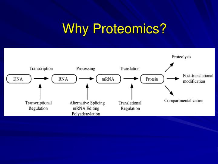 Why Proteomics?
