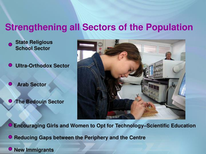 Strengthening all Sectors of the Population