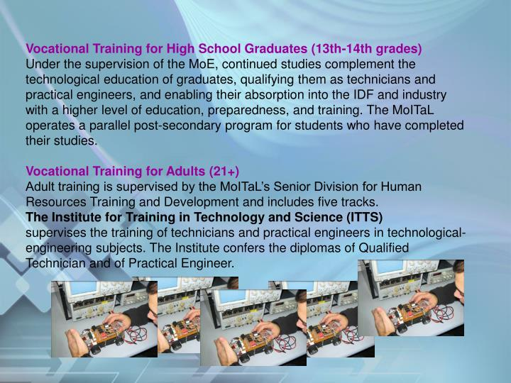Vocational Training for High School Graduates (13th-14th grades)