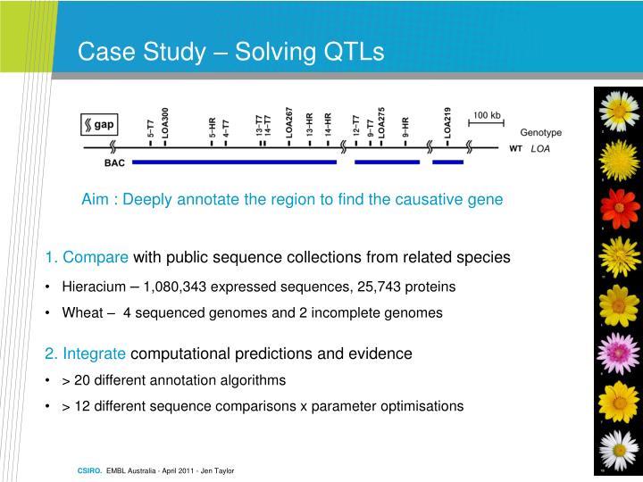 Case Study – Solving QTLs